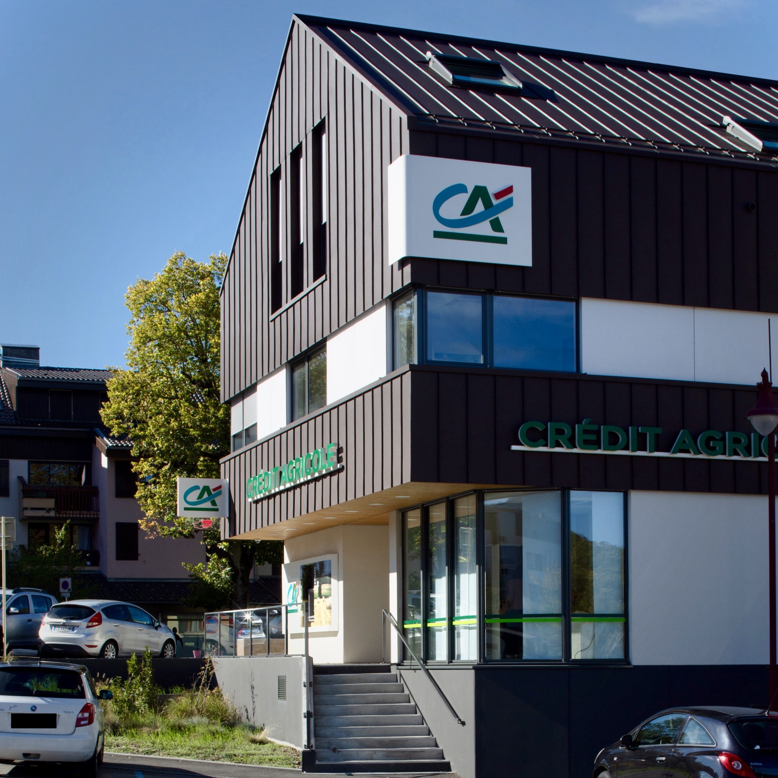Agence bancaire à Viry